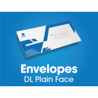 250 x DL Plain Envelopes - black print - 220x110mm