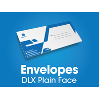 250 x DLX Envelopes - black print - 235x120mm