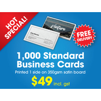 Business Cards -1,000  Standard Business Cards - 350gsm Satin